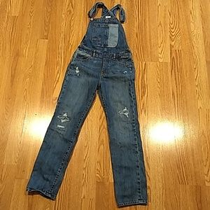 Girls Distressed Overalls Size XL